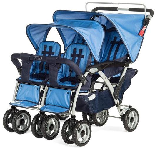 Child Craft Sport Multi-Child Quad Stroller, Regatta Blue Review