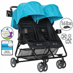 ZOE XL2 DELUXE Double Xtra Lightweight Twin Umbrella Stroller