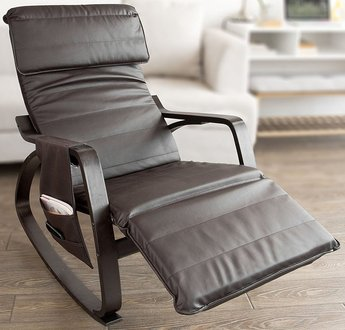 SoBuy Haotian Comfortable Relax Rocking Chair with Foot Rest Design